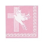 Dove Cross Pink Servetten
