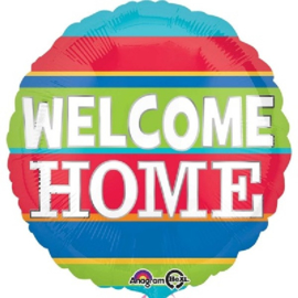 Welcome Home Stripes Folie Ballon