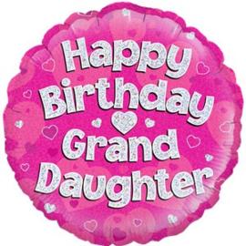 Happy Birthday Grandaugther  Foil