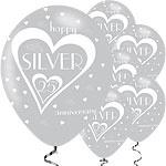 Ballonnen happy zilver anniversary