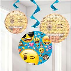 Emoji Hanging Swirls