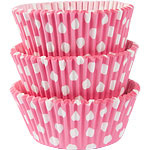 Rose Met Stippen Cup Cake Cases