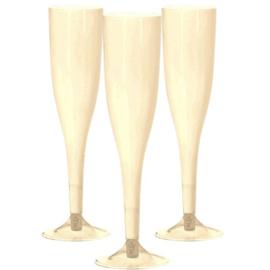 Plastic Champagneglazen Ivoor