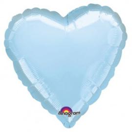 Folieballon hart licht blauw