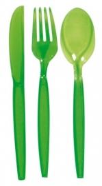 Transparant bestekset lime green