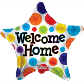 Welcome Home Star Folie Ballon