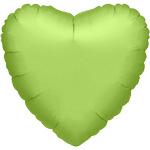 Folieballon hart lime groen
