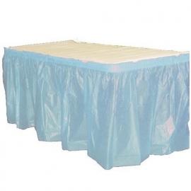 Plastic tafelrok baby blauw