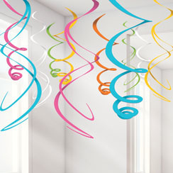 Multi Colour Hanging Swirls