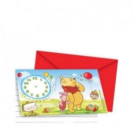 Winnie de poeh en piglet  uitnodigingskaartjes met evelop
