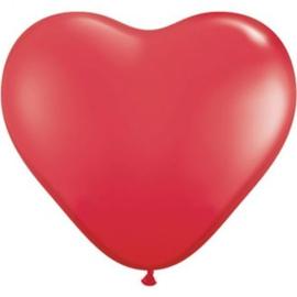 3ft (90cm) Harten ballon rood