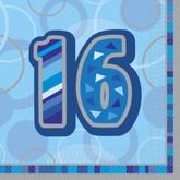 Servetten 16 jaar Blauw