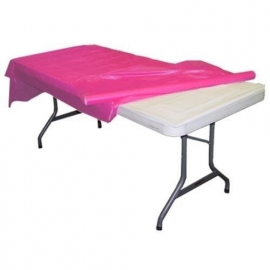 Plastic tafelkleed op rol hot pink