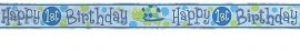Turtle 1st Birthday Banner