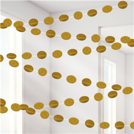 Gold Glitter Hanging Decorations