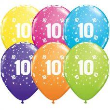 Helium ballon leeftijd 10 jaar