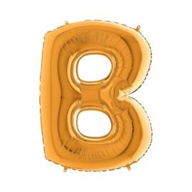 Folieballon letter B goud