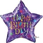 Birthday Typography Purple