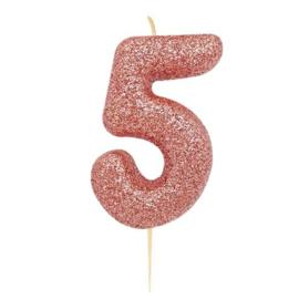 Cijferkaars Roze Goud nr. 5