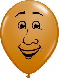 Ballon Man´s  face brown