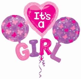Its a Girl Folie Ballonnen Boeket