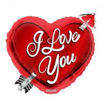 I Love You Heart Foil