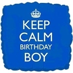 Keep Calm Birthday Boy Foil