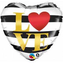 I Love You Stripes Foil