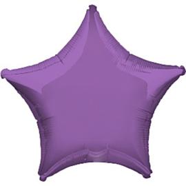Folieballon ster lavendel