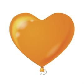 Harten ballonnen oranje