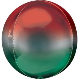 Omber Rood / Groen Orbz Ballon
