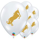 Ballon golden unicorn