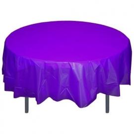 Ronde plastic tafelkleed  paars