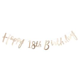 Happy Birthday 18th Letter Slinger Goud