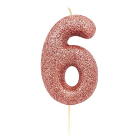 Cijferkaars Roze Goud nr. 6