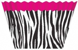 Cup cakes zebra pink