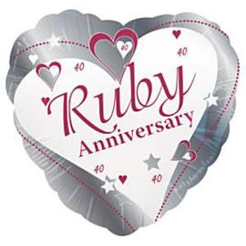 Ruby Anniversary Folie Ballon