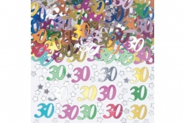 30th Birthday Metallic Confetti Assortie