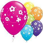 Ballon daisies & butterflies