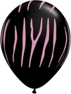 Zebra Stripes Onyx Black with Pink