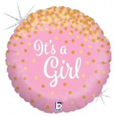 Its a Girl Glittering Foil