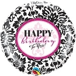 Birthday Elegant Damask Foil
