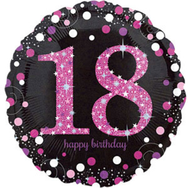 Happy 18th Birthday Pink Sparkling Celebration