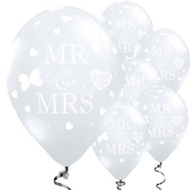 Ballon Mr & Mrs transparant