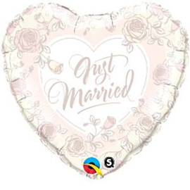 Just Married Roses Foil