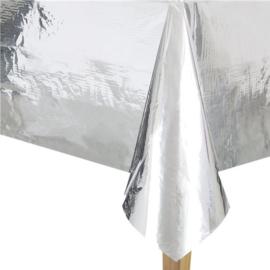 Metalic Zilveren Tafelkleed
