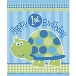 Turtle 1st Birthday Partybag