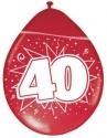Ballonnen 40 rood