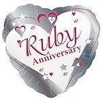 Loving Hearts Ruby Anniversary