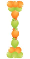 Ballonnenpilaar met link-o-loon ballonnen